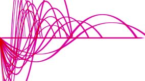 4k abstracte de lijnachtergrond van het rimpelingsritme, correct patroon, de technologie van het radarsignaal vector illustratie