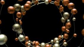 4k abstracte molecules in cirkelketting royalty-vrije illustratie