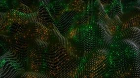 4K abstracte Neurale Netto met Vurensynapsen stock illustratie