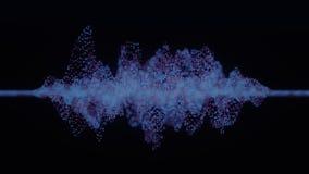 4K abstracte Neurale Netto van een Kunstmatige intelligentie vector illustratie