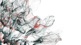 4K Abstrakcjonistyczne cząsteczki rozszerzają przez ramę ilustracji