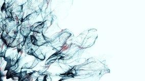 4K Abstrakcjonistyczne cząsteczki rozszerzają przez ramę royalty ilustracja