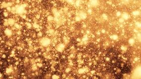 4K Abstrakcjonistyczne Złociste cząsteczki