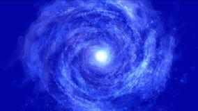 4k Abstrakcjonistycznego energetycznego vortex fajerwerków cząsteczki dziury wiru wszechrzecza tunelowa podróż ilustracja wektor