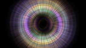 4k Abstrakcjonistycznego obracania promieni turbinowy tunelowy laser wykłada halo w uczeń przestrzeni ilustracja wektor