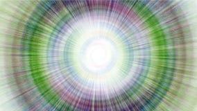4k Abstrakcjonistycznego obracania promieni turbinowy tunelowy laser wykłada halo w uczeń przestrzeni royalty ilustracja
