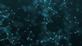 4k abstrakcjonistycznej pętli technologii futurystyczny tło z liniami i kropkami royalty ilustracja