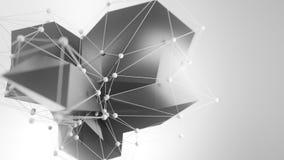 4K abstrakt Załamuje się wieloboki ilustracja wektor