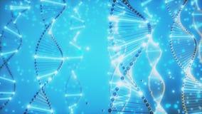 4K abstrakta DNA Dwoisty Helix ilustracji