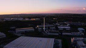 4K aerial drone footage of Sheffield and Rotherham during a perfect sunset. Spring 2019 stock video