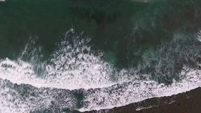 aerial footage, tropical sea with beach wave stock footage