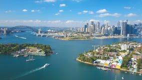 4k aerial hyperlapse video of Sydney Harbour
