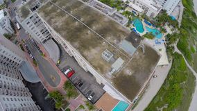 4k aerial miami beach stock footage
