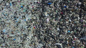 4K Aerial over landfill full of trash.  stock video footage