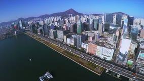 4K Aerial Shot of Hong Kong of China. stock footage