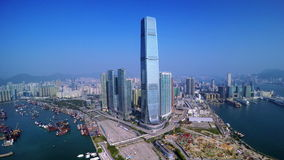 4K Aerial Shot of Hong Kong.