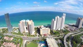 4k Aerial Sunny Isles Beach stock video