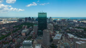 4K Aerial timelaspe of Boston skyline  Massachusetts - USA stock video