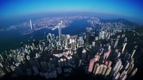 4K Aerial Track Shot of Hong Kong of China. stock video footage