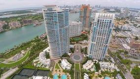 4k Aerial video Miami Beach South Pointe stock video