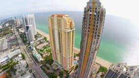 4k aerial video Sunny Isles Beach stock video
