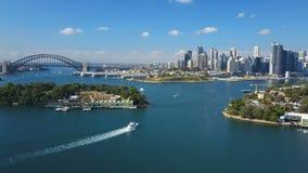 4k aerial video of Sydney Harbour