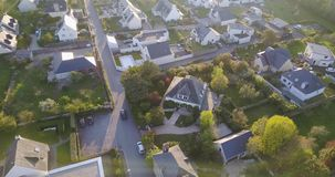 4K, Aerial view of a french rural village stock video