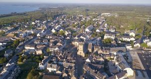 4K, Aerial View Of A French Rural Village stock video footage