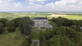 4K. Aerial view of Pidhorodetsky Castle in Lviv region, Ukraine stock video footage