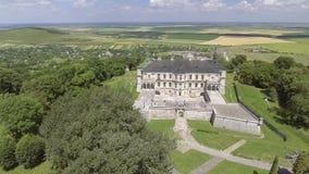 4K. Aerial view of Pidhorodetsky Castle in Lviv region, Ukraine stock footage