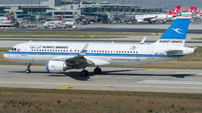 9K-AKE Kuwait Airways, Airbus A320 - 200 Imagem de Stock Royalty Free