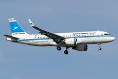 9K-AKG Kuwait Airways, flygbuss A320 - 200 Royaltyfri Fotografi