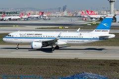 9K-AKJ Kuwait Airways, Aerobus A320 - 200 Fotografia Royalty Free