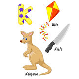 K alphabet cartoon Royalty Free Stock Images
