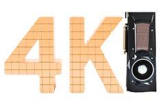4K alta resolución, tarjeta de vídeo GPU, del ordenador representación 3D Imagenes de archivo