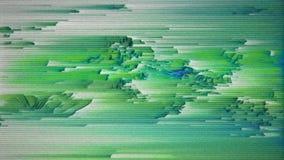 4K altamente ha stilizzato i dati per mosh distorsione, la separazione del pixel e rumore statico illustrazione di stock
