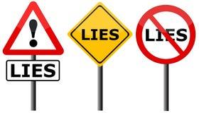 Kłamstwa Zdjęcie Stock