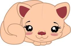 Kłamstwo kreskówki kot Obraz Royalty Free
