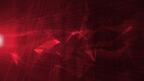 Abstract high tech digital e-business background. 4k Animation of an abstract technology digital background with fractal shapes, light flares and low polygons