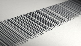 4k - Animation of barcode on paper texture stock video footage