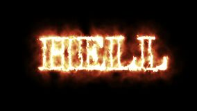 Concept of word hell in fire