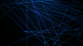 4K animation dark abstract background dot line connection for cyber futuristic technology network concept stock video footage