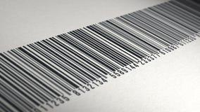4k - Animation des Barcodes auf Papierbeschaffenheit stock video footage