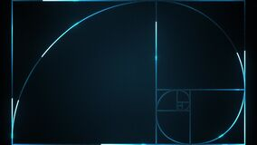 Golden Ratio On Cyber Technology Background Animation