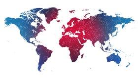 World Map Global Technology Background