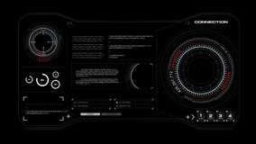 4K animation HUD head up display interface code graph bar element for network cyber technology concept