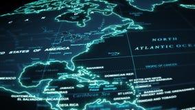 World Map Travel Technology Background