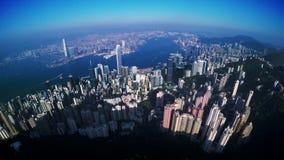 4K antenne van Hong Kong van China wordt geschoten dat stock footage
