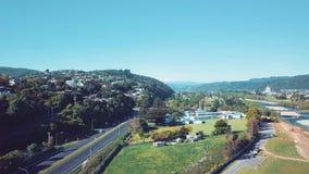 4K antenne, Wellington Suburbs Flyover stock footage