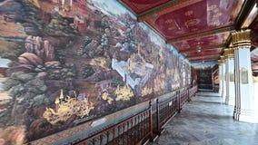 4K arcydzieła Ramayana obraz w świątyni szmaragdowy Buddha w Uroczystym pałac zdjęcie wideo